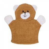 Мочалка-рукавичка ROXY-KIDS RBS-002 махровая Baby Bear.  Хлопкова ткань