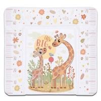 Пеленальный матрасик Babycare 820х730х210 (Жираф, бежевый (Giraffe grow big, bie