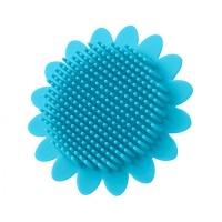 Мочалка ROXY-KIDS RSB-001 силиконовая антибактериальная (подсолнух) голубой