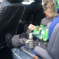 Авто-фартук Крошкин дом защита от детских ног (синий)