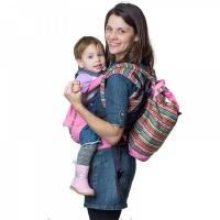 """Комплект Чудо-Чадо """"Уичоли"""" Сумка-рюкзак  для мамы + Слинг-рюкзак розовый КРЧ01-006"""