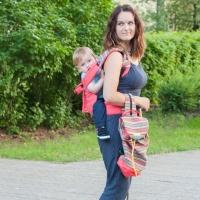 """Комплект Чудо-Чадо """"Уичоли"""" Сумка-рюкзак  для мамы + Слинг-рюкзак коралловый КРЧ01-007"""