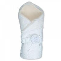 """Одеяло - конверт на выписку СГ-1012-2М/0 """"Венеция"""" белый мех"""