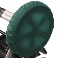 Чехлы на колеса для коляски Чудо-Чадо (2 шт., d = 28-38 см) зеленые CHK04-004