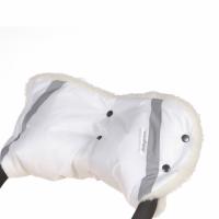 Муфта на коляску Baby care Super Light 553п искусственный мех+плащевка (белый)