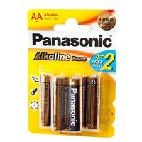 Батарейка Panasonic Alkaline LR6 ВР-4+2 (тип АА) 12142