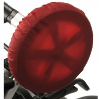 Чехлы на колеса для коляски Чудо-Чадо (2 шт., d = 28-38 см) красные CHK04-005