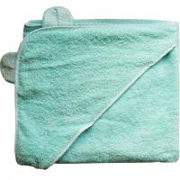 Полотенце для купания с уголком Папитто 3013 100х100 бирюзовый