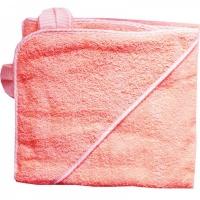 Полотенце для купания с уголком Папитто 3013 100х100 розовый