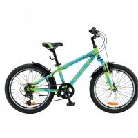 "Велосипед 20"" STELS Pilot-230 Gent 11"" 6 скор. зеленый/синий/тёмно-синий"