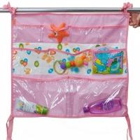 Карманы подвесные Чудо-Чадо Капитошка (детскую/ванную) розовые КШК03-002