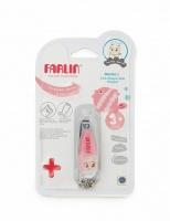 Детские маникюрные щипчики для ногтей FARLIN BF-160C (pink) на цепочке