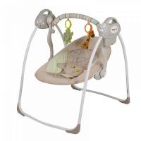 Электрокачели Baby Care Riva с адаптером (кофейный)