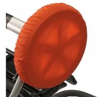 Чехлы на колеса для коляски Чудо-Чадо (2 шт., d = 28-38 см) оранжевые CHK04-007