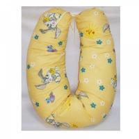 Подушка для кормления MamaLine 170 (170cm) зайки на желтом