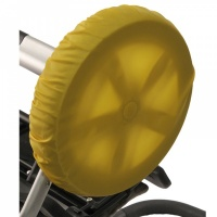 Чехлы на колеса для коляски Чудо-Чадо (2 шт., d = 28-38 см) желтые CHK04-006