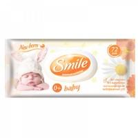 Влажные салфетки Smile Baby Ромашка+Календула 72 шт.