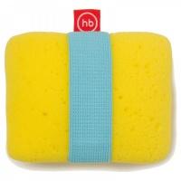 """Мочалка с эластичным фиксатором на руку Happy Baby """"SPONGE+"""" Yellow 35004"""