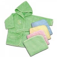 Комплект махровый Топотушки М-2 (халат 6-24 м.+ полотенце, вышивка) зеленый
