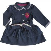 """Платье Soni Kids """"Джинсовый садик"""" Л6105011-80ф, р. 80"""