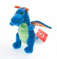 Игрушка мягкая Aurora Дракон синий, 20 см ( 10-506)