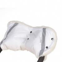 Муфта на коляску Baby care Standard 153п мех+плащевка + светоотражатели (белый)