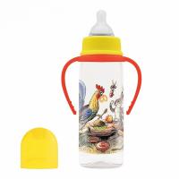 """Бутылочка для кормления Lubby 16429 с сос.""""Сказки В.Сутеева"""",от 0 мес.,250мл.,PP"""