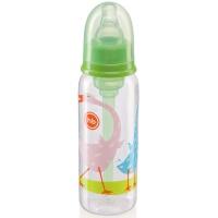 Бутылочка Happy Baby 10015 с силиконовой соской 250 мл. (grass)