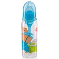 Бутылочка Happy Baby 10015 с силиконовой соской 250 мл. (sky)