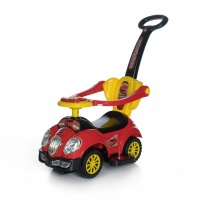 "Каталка Baby Care ""Cute Car"" музыкальный руль 558 W (Красный/Черный (Red/Black))"