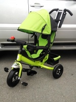 Велосипед My Mummy 6288N зеленый, надувные колеса