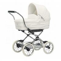 "Коляска Inglesina ""Vittoria"" Gardenia (белый), шасси Comfort Bike Chrome/Slate"