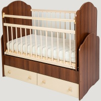 Кровать Сафаня №4 маятник, 2 ящика, таволато/ваниль