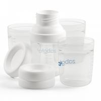 Набор контейнеров Zabota2 20617 для хранения детского питания, 4 шт., с адаптеро
