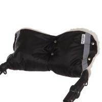 Муфта на коляску Baby care Standard 153п мех+плащевка + светоотражатели (черный)