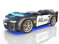 Кровать-машина Romack Kiddy Полиция (с подсветкой)