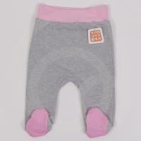 Ползунки Топотушки 3130-68 розовый с закрытыми ножками на широкой резинке