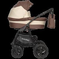 Коляска MARIO (2 в 1) - RIKO BASIC (05 коричневый-бежевый)