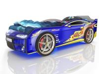 Кровать-машина Romack Kiddy синяя молния (с подсветкой)