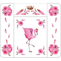"""Пеленальный матрасик Топотушки """"Розовый Фламинго"""" (82*73 см.)"""