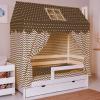 """Комплект для кроватки-домик Incanto """"Домик"""" (кофе) арт. 20102"""