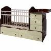 Кровать Сафаня №3 трансформер, маятник, резьба, таволато/ваниль